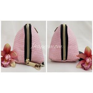 Victoria's Secret Bags - Victoria's Secret Wristlet Pink Crocodile Bag
